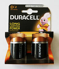 DURACELL DURALOCK 2 X D 1.5V VOLT BLOCK BATTERY CELL ALKALINE POWER PRESERVE