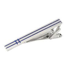 Brass Tie Bar Men's Formal Tie Clip with Stripe Elegant Necktie Bar Design