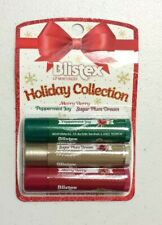X3 Blistex Holiday Merry Berry, Peppermint Joy, Sugar Plum Dream Lip Balm