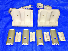Nintendo Wii Nyko 4 Rechargeable Batteries + 4 Remote Covers & 2 Charge Stations