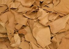 Pigskin Leather Scrap Suede Lining Golden Tan 1 1/2-2 oz hide pieces1 pound
