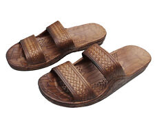 Imperial Hawaii Brown And Black Rubber Hawaiian Jesus Sandals For Kids