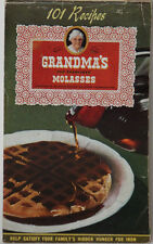 Grandma's Old Fashioned Molasses 101 Recipes Booklet Vintage 1946 Cook Bake