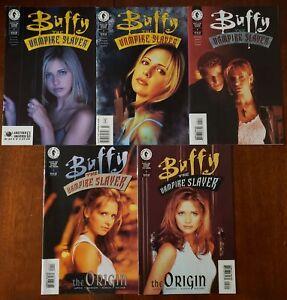 Buffy the Vampire comics lot: Slayer #2, 3, 4 & Buffy VPS: The Origin #1 & 2.