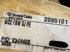 General Cable 2095161 22/6P Telecom Gel Fill BSW Buried Service Wire Bell /100ft