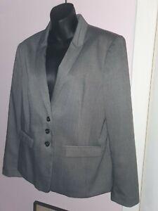 Next sp Ladies UK 16 Grey Suit Jacket VGC