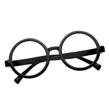 Harry Potter Youth/Adult Black Round Glasses Nerd Costume Brainy NEW