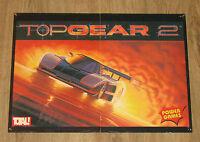 Nintendo 1994 Top Gear 2 Rare retro small Poster 42x30cm SNES