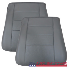 03 07 Ford F 250-350 Lariat  Driver Pa.Bottom perforated Leather Seat cover GRAY