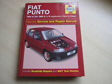 HAYNES FIAT PUNTO  MANUAL,  3251 ,1994-1999 ,L-V reg ONE OWNER FROM NEW