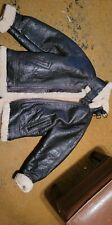 Vintage Excelled Flight Bomber WW2 B-3 Shearling Sheep Skin Leather Jacket