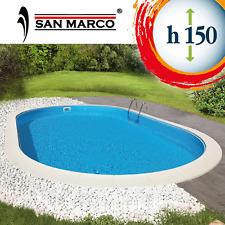 Piscina ovale da giardino interrata fuori terra 800x400x150 cm con accessori
