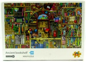 1000 Piece Mini Jigsaw Puzzle  Ancient Bookshelf  Ages 14+ Toy Town New