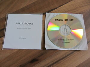 GARTH BROOKS Wrapped Up In You UK promo collectors acetate CD single
