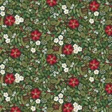 Andover Makower Silent Night TP 1975 G Green Foliage Cotton Fabric