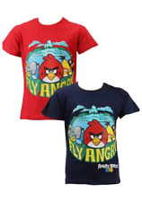 Boys Angry Birds  T Shirt Top Size 12y 152cm NAVY