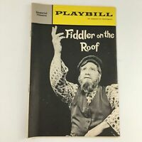 1965 Playbill Imperial Theatre 'Fiddler on the Roof' Luther Adler, Ann Marisse