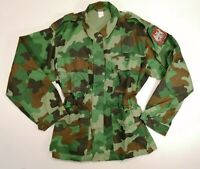 Genuine Serbian Army M93 Camouflage Summer Jacket Battle Shirt with Coat of Arms