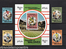 Maldive Islands - 1986 World Cup Football - U/M - SG 1174-7 + MS1178