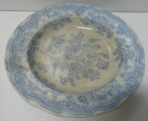 HAMMERSLEY & CO POTTERY CHINA ENGLAND ASIATIC PHEASANTS BLUE & WHITE DISH PLATE