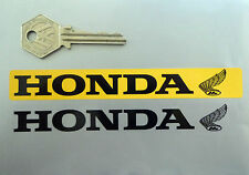HONDA Number Plate Dealer Logo Cover STICKER Yellow Motorcycle Bike Classic Wing