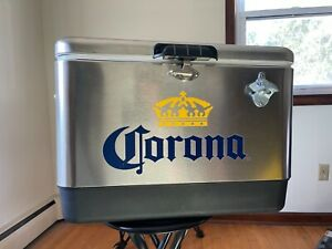 Corona Stainless Steel Cooler Promo *Coleman* NEW and RARE
