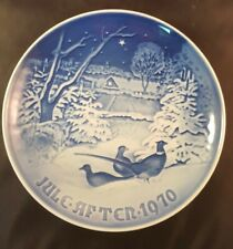 Bing & Grondahl B&G Jule After Collectors Plate Denmark Christmas 1970 Numbered