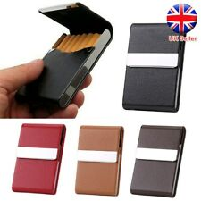 Unisex Pocket Tobacco Box Case PU Leather Slim Cigarette Roll Up Holder Gifts UK