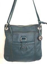 The Sak Pebbled Leather Purse Teal Green Cross Body Shoulder Bag