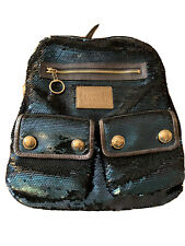 Authentic COACH Poppy Sequin Spotlight Backpack Denim 15348 In Perfect Shape