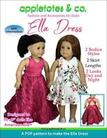 "18"" Doll Sewing Pattern -Ella Dress Sewing Pattern for American Girl Dolls"