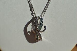 "1.15ct Narsipatnam Alexandrite /Zircon Pendant & 20"" Chain Platinum over Silver"