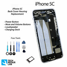 WHITE iPhone 5C Complete Back Cover Housing Assembly Replacement Pre Assembled