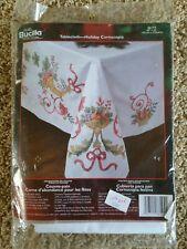 "NOS Bucilla Special Edition 60"" x 90"" Tablecloth 86194 Kit Holiday Cornucopia"