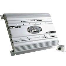 AMPLIFICATORE LANZAR VIBE 422 VIBE422 4 CANALI 1600 WATT RMS 4 X 400 FRONTE SUB