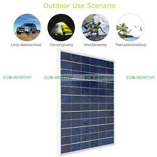10W Solar Panel Charging 12V off Grid Home Battery Power For Camping Boat Hiking