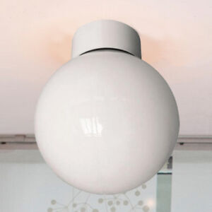 100w Bathroom Ceiling Globe Light Opal Interior Lampshade White Light Fixture