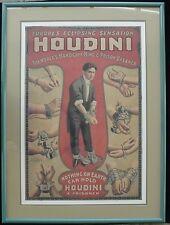 Europes Eclipsing Sensation Houdini Poster (Framed!) Early #36
