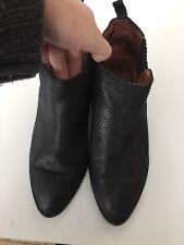 JEFFREY CAMPBELL MHH Black Leather Cutout Heel   size 38 eur - us size 7.5