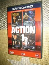 The Expert, Expect No Mercy, Death Ring, The Gladiator -  {4 Films DVD} New