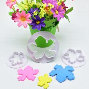 4Pcs/Set Hawaiian flower Fondant Mold Cutter Sugarcraft Cake tool^ZY