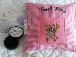 Taylor's Tooth fairy pillow Pink And Tooth Fairy Holder