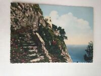 Napoli Vintage Postcard Renza Via Maddalena Sea Water St. Michael Capri Unposted
