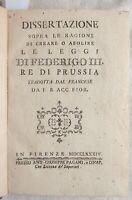 RACCOLTA STUDI ANTICHI GERMANIA PRUSSIA 1784 GUERRA FRANCO PRUSSIANA BATTAINI