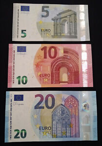 ***EURO 5,10 & 20 EURO Mint condition banknotes bills currency***