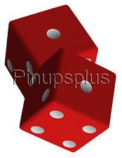 Dice Snake Eyes Waterslide Decal Gambling Craps Casino S910 by Pinupsplus