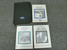 2000 Ford Excursion SUV Owner Owner's Manual User Guide Book XLT Limited