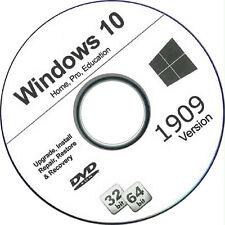 Windows 10 Reinstall Disc 32 or 64 bit + DVD Bonus DVD Drivers-Free Shipping