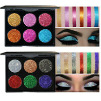 6 Color Beauty Glitter Shimmer Eyeshadow Eye Shadow Palette Makeup Cosmetic Set