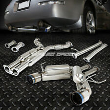 "FOR 350Z Z33/G35 DUAL 4.5"" TIP STAINLESS HI-POWER RACING CATBACK EXHAUST SYSTEM"